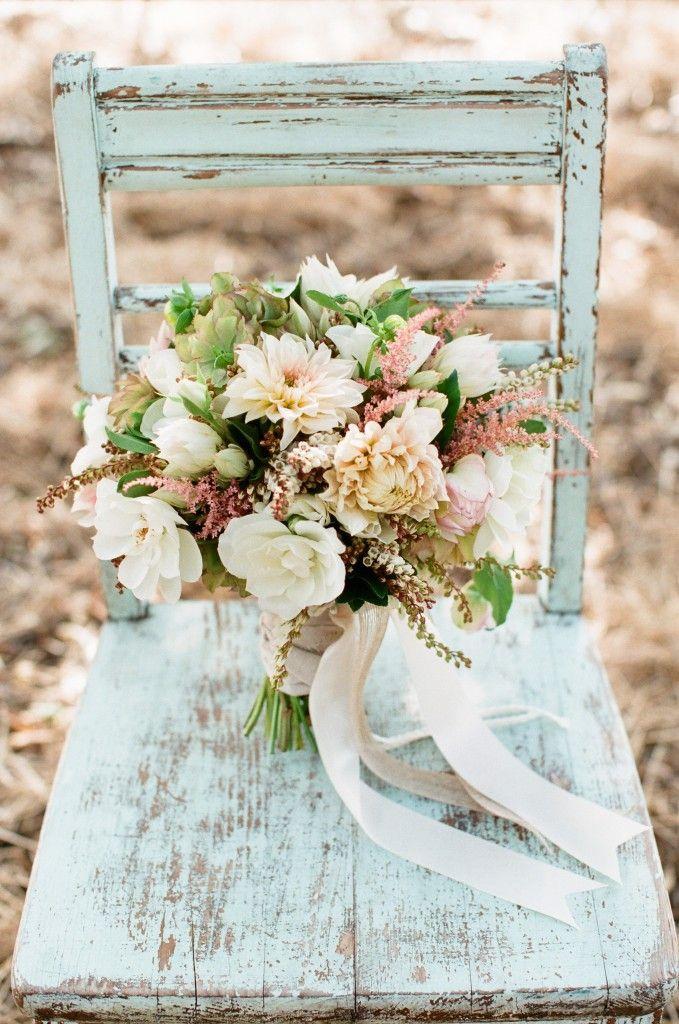 Daydreaming of Dahlias: Romantic Floral Wedding Ideas - bridal bouquet; The Vine's Leaf