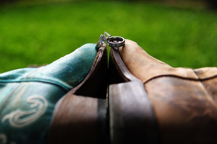Wedding Rings Photography - boots