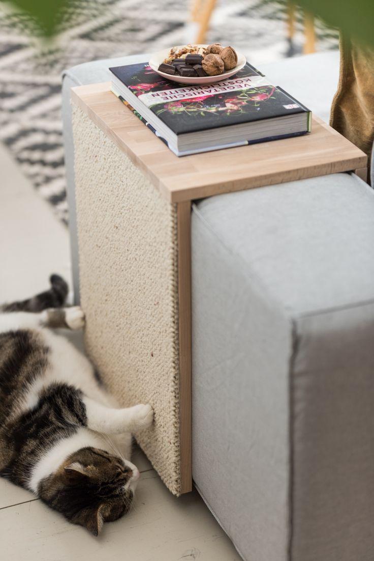 Anleitung für einen selbst gemachten DIY Couchtisch und Kratzmöbel für Katzen