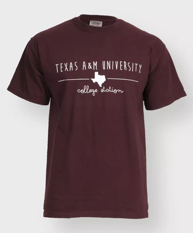 Maroon Texas A&M University, College Station t-shirt. #AggieGifts #AggieStyle