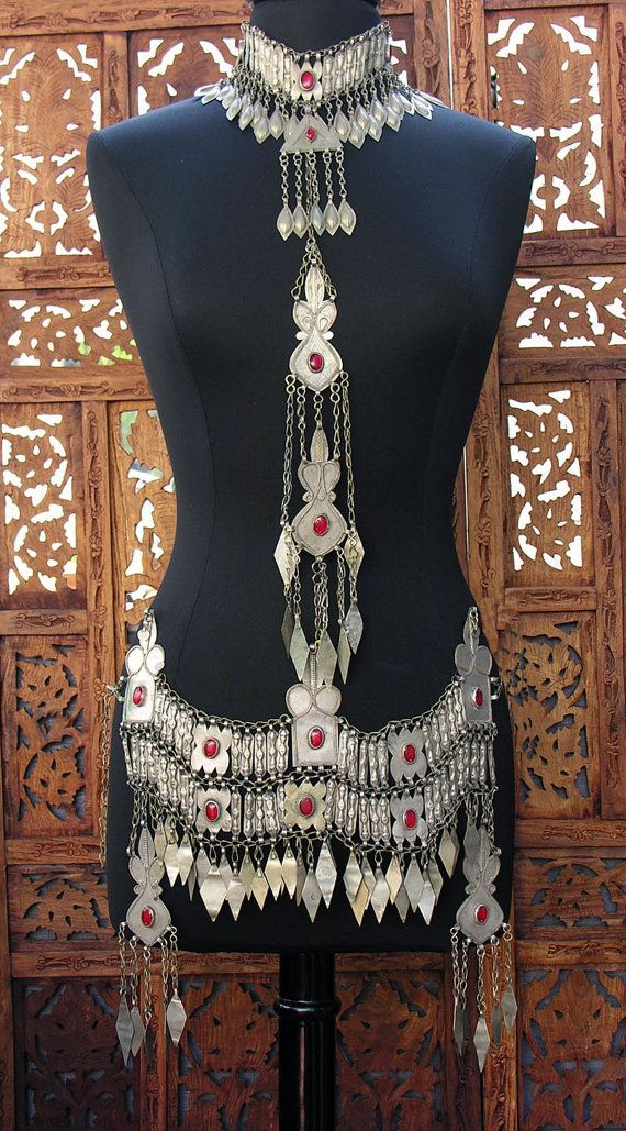 Vintage Turkoman Tribal Body Chain Scarlet's by ScarletsLounge1, $345.00