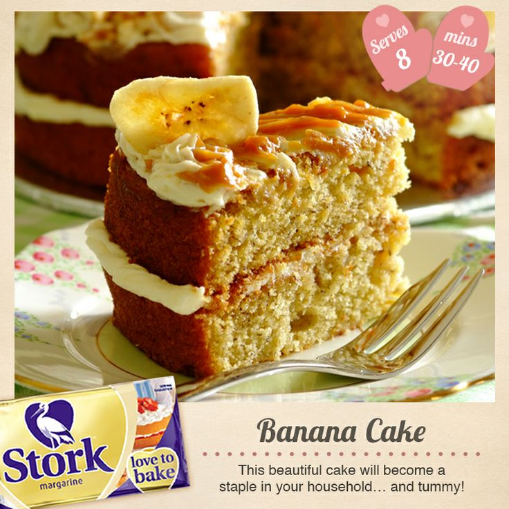 Love banana bread? Then try this #recipe for banana cake!