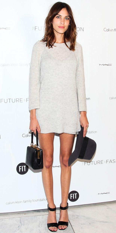 @Alexandra M What Wear - Alexa Chung Keeps It Cool In Calvin Klein
