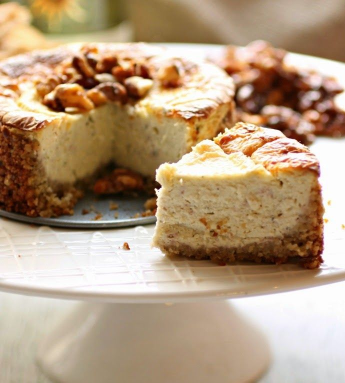 Savory Cheesecake with Honeyed Walnuts                                                                                                                                                     More