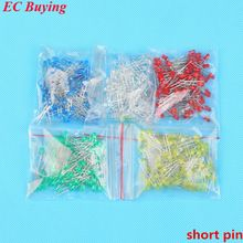 US $4.24 500pcs 3mm LED Diode Light Assorted Kit DIY LEDs Set Mixed Color Red Green Yellow Blue White Long Pin or Short Pin. Aliexpress product