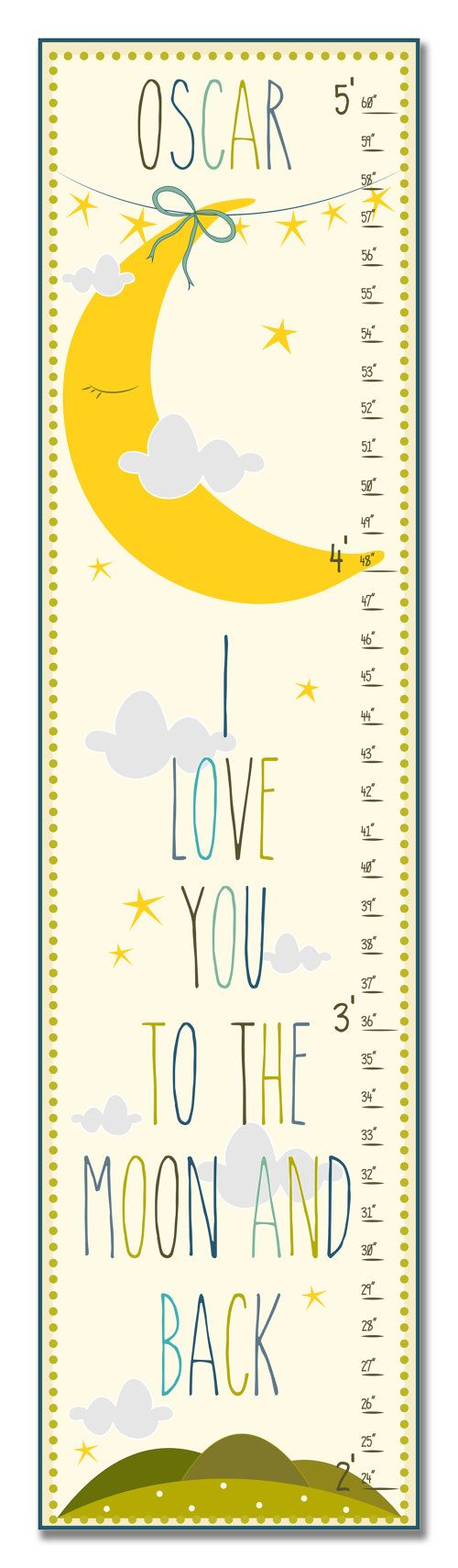 264 best childrens growth charts images on pinterest growth childrens growth chart ruler measure wall art i love you to the nvjuhfo Gallery