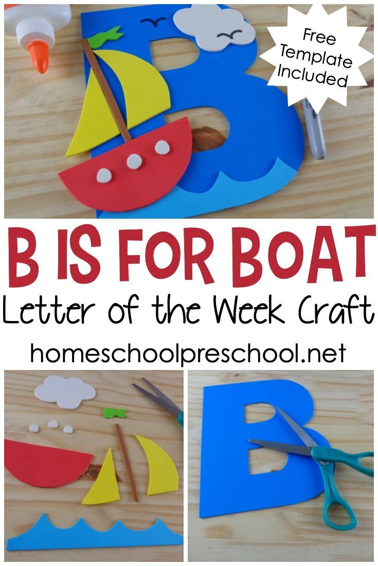 4f3eb637b29c This preschool boat craft is perfect for your upcoming letter of the week  lessons. You can also add it to your transportation and ocean units.