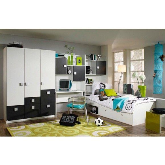 Jugendzimmer Mit Bett Schrank Schreibtisch