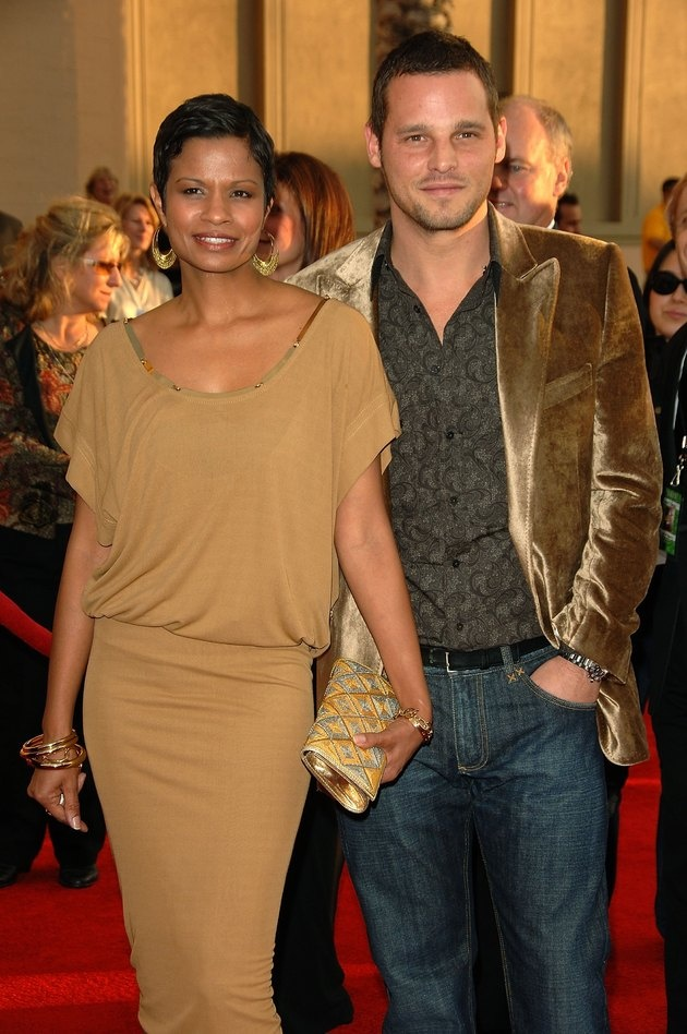 Grey's Anatomy star Justin Chambers has been married to his wife Keisha since 1993. They have five children, Eva, Jackson, Kaila, Maya, and Isabella #love #wmbw #bwwm