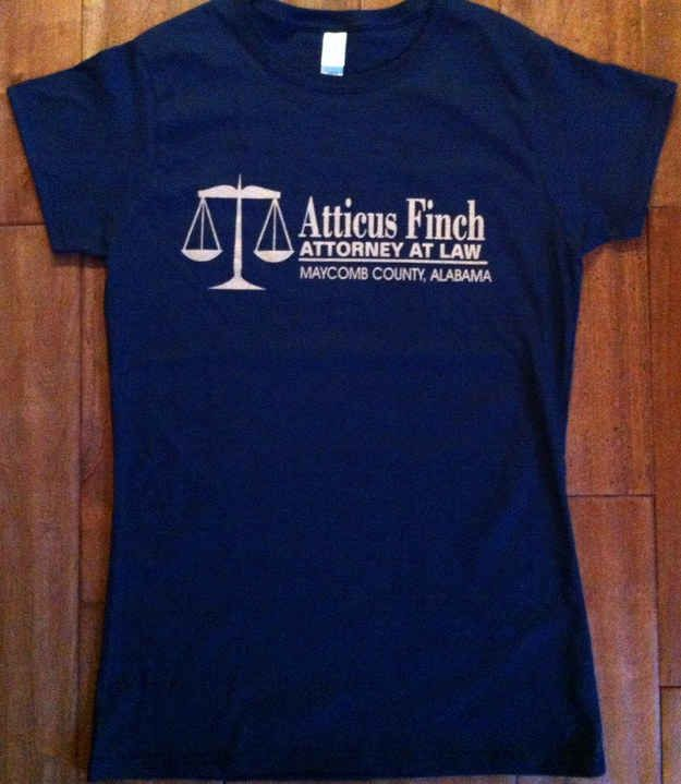 Buzzfeed compilation of nerdy book t-shirts. @amylou6 , check out this tee from our favorite Maycomb lawyer.