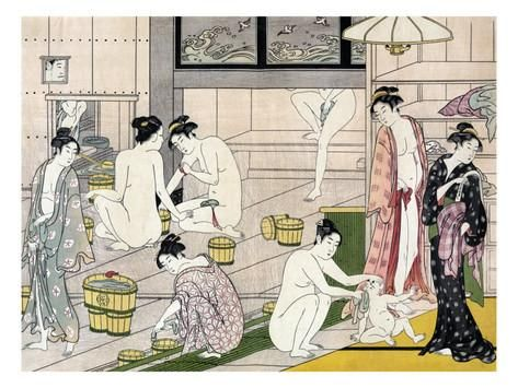 Bathhouse Women, Japanese Wood-Cut Print Juliste tekijänä Lantern Press AllPosters.fi-sivustossa