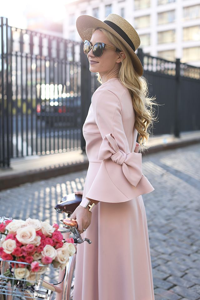 Atlantic Pacific Blog // Pink Bow Dress & Blush Loafers