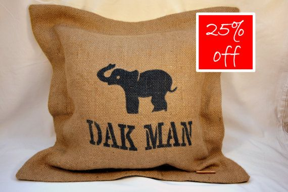 Hey, I found this really awesome Etsy listing at https://www.etsy.com/uk/listing/256447327/hessian-elephant-cushion-cover-with