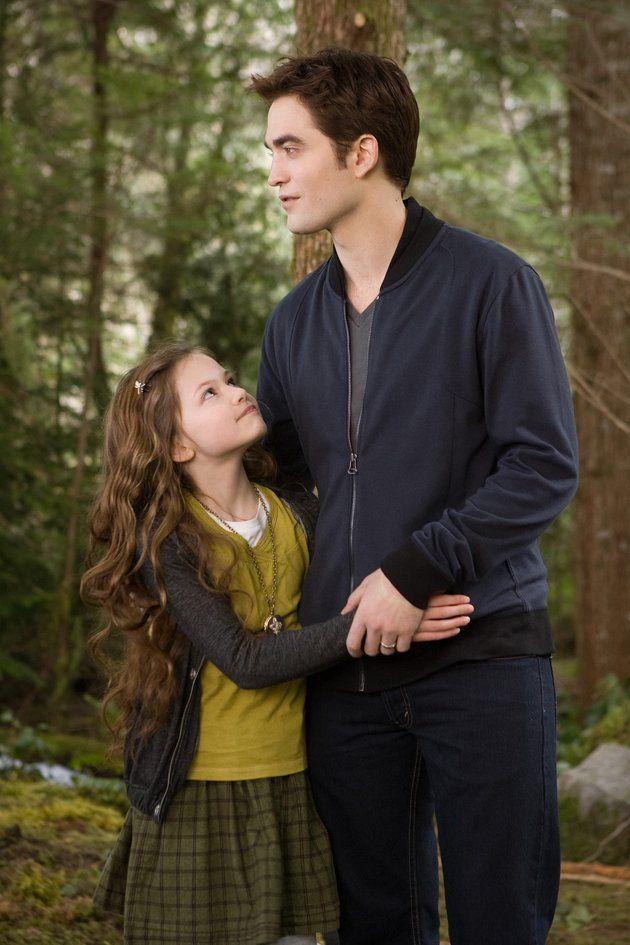 "Mackenzie Foy and Robert Pattinson in ""The Twilight Saga Breaking Dawn Part 2"""