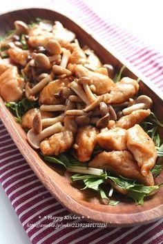 ささみとしめじの柚子胡椒照り焼き  たっきーママ オフィシャルブログ「たっきーママ@happy kitchen」Powered by Ameba