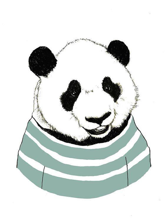 Panda Bear Art Nursery Art Panda Bears Love by corelladesign