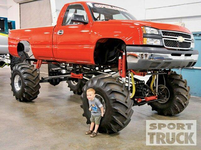 jacked up chevy trucks mudding - photo #30