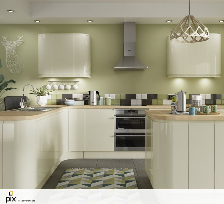 Green Kitchen Walls With Cream Cabinets: 17 Best Images About Kitchen On Pinterest