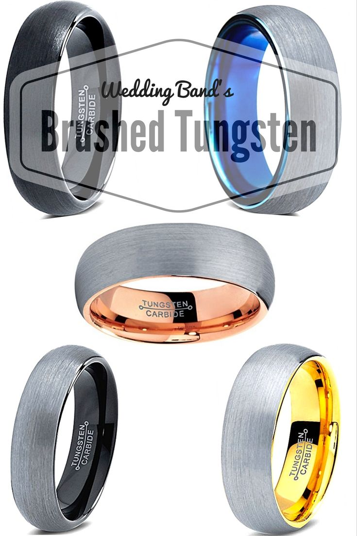 Brushed tungsten wedding bands are the way to go. They are so durable! The best…
