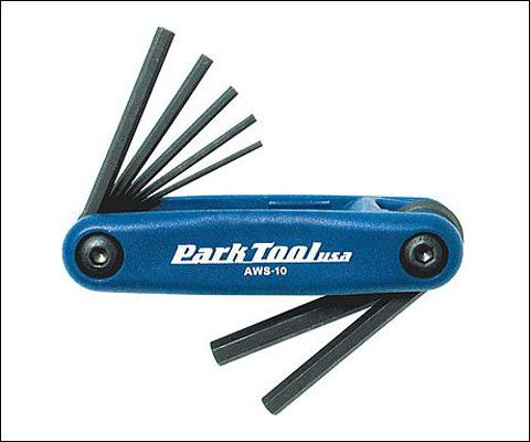 Park Tools AWS-10 Fold Up Hex Wrench Tool Set
