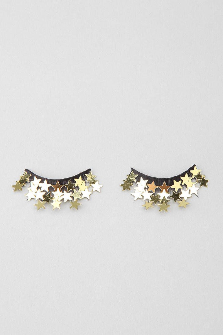 glitter stars fake lashes! I want these!