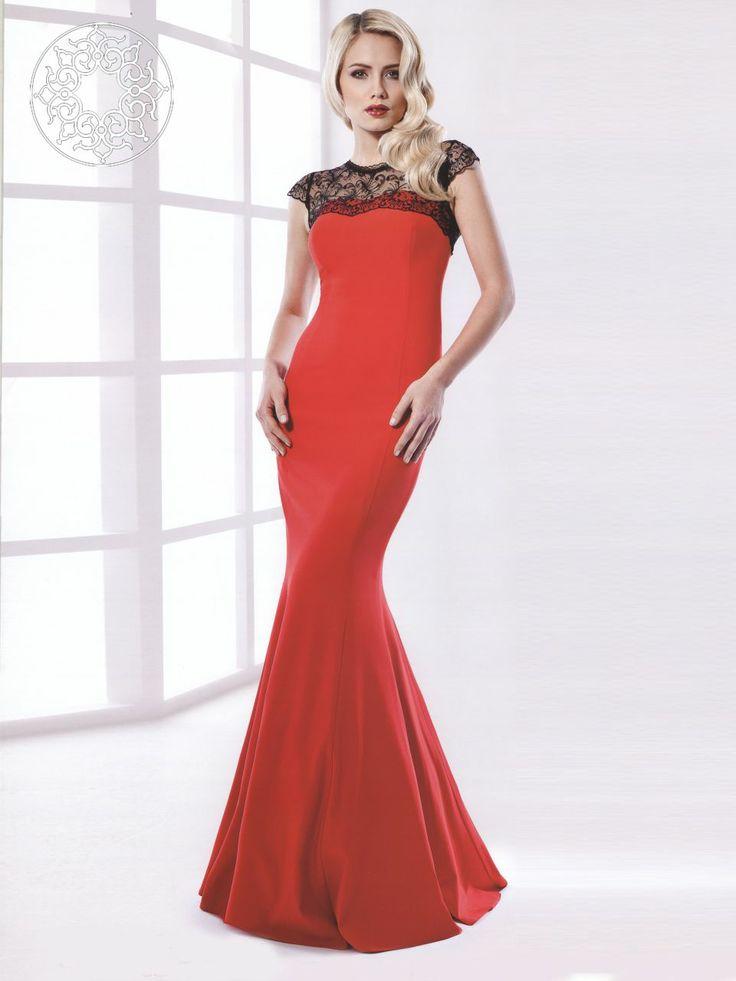 www.belginmoda.co... 373-01 Abiye Kumaş Polyester % 100 Manken : 38 Beden Ürün : 38 Beden Desen : Dantelli Renk : Kırmızı
