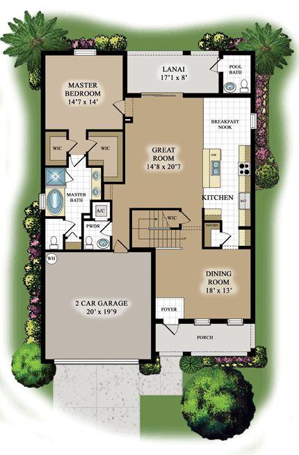 Navona floor plan lennar floor plans pinterest for Florida homes floor plans