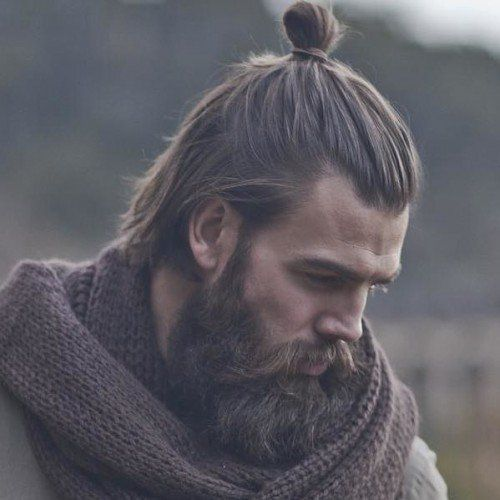 The Samurai Man Bun http://www.menshairstyletrends.com/the-samurai-man-bun/