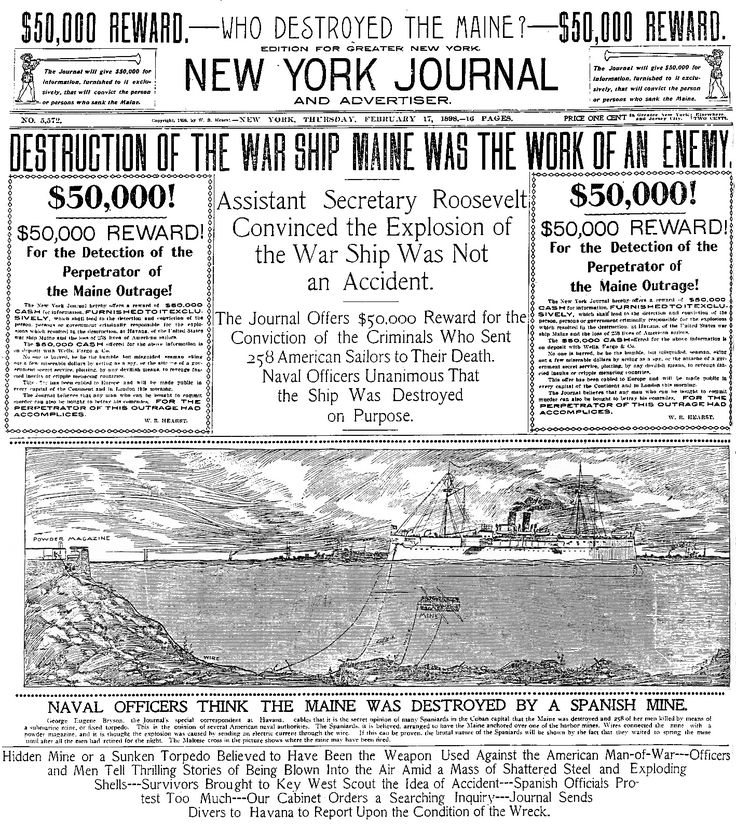 Yellow Journalism Spanish Cuban American War Documents