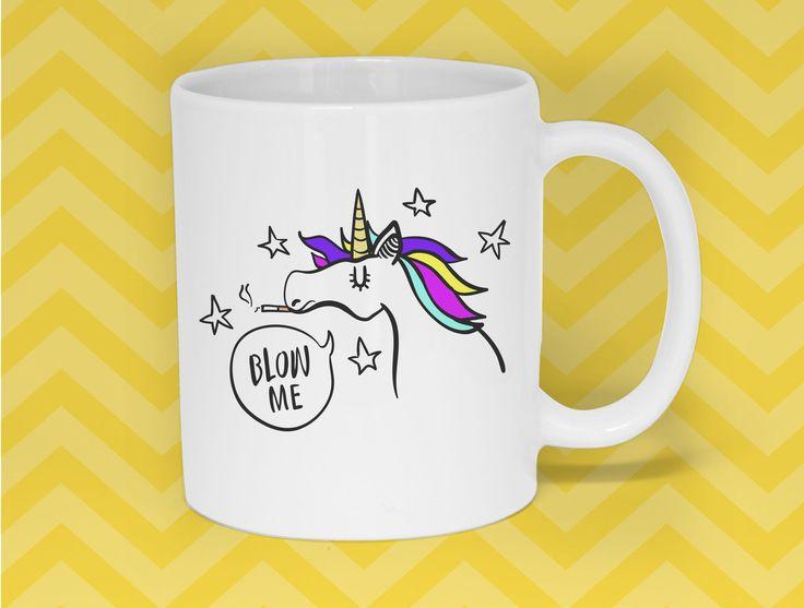 Unicorn Coffee Mug, Funny mug, Unique Quirky Gift, Funny Mug, Funny Gift, Illustrated, Gift for Her, Gift for Him, A Couple Of Mugs by ACoupleOfMugs on Etsy