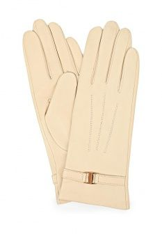 Перчатки Fabretti, цвет: бежевый. Артикул: FA003DWCZM56. Женские аксессуары / Перчатки и варежки / Кожаные перчатки