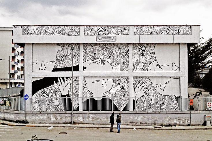 Millo - Italian Street Artist - Battipaglia (IT) - 02/2015 -  */  #millo #streetart