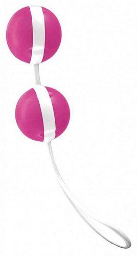 Køb Joyballs - pink-hvid - kærlighedskugler nu i 4ushop.dk - Frækt erotik fra Joydivision fragt kun 29 kr.