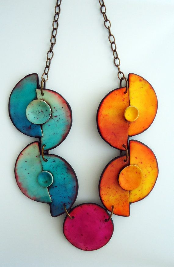 Polymer clay necklace by AnarinaAnar on Etsy, €67.00