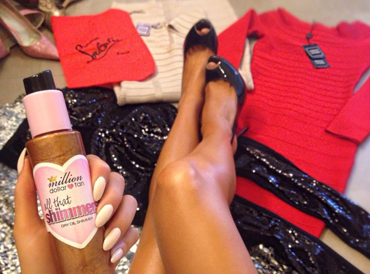 "{kissable complexions} Million Dollar Tan ""All that Glitters"" shimmer dry oil"
