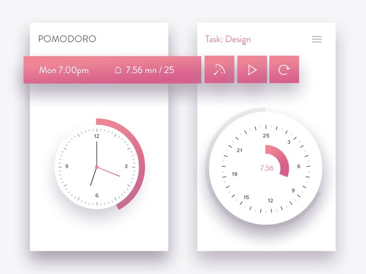 I need a pomodoro timer for my work, i designed this one yesterday nite, if…