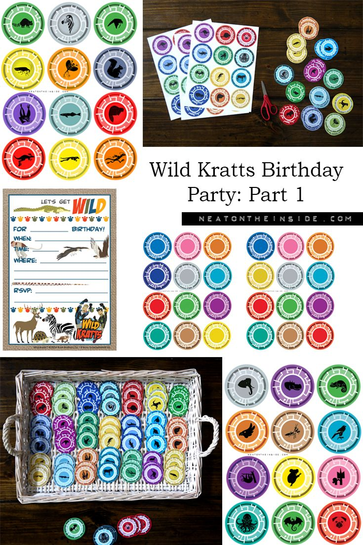 photograph regarding Wild Kratts Creature Power Discs Printable identify Creature Electric power Printables Prices of the Working day