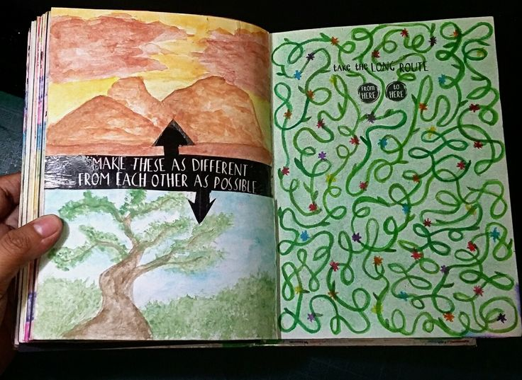 """Anti Journal """"Make these as different from each other as possible"""" #AntiJournal #ArtJournal"""