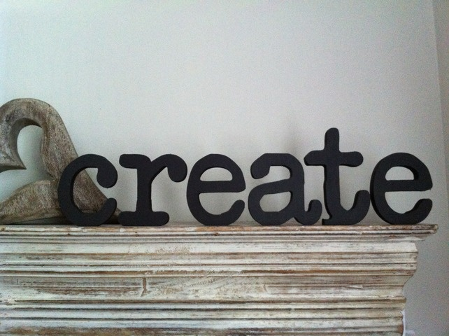 Freestanding Wooden Letters - Handpainted - 'create' - NEW Font £15.00: Fonts 1500, Fonts 15 00, Boards Games, Freestanding Wooden, Board Games, Handpaint Freestanding, Plays, Wooden Letters, Letters Land