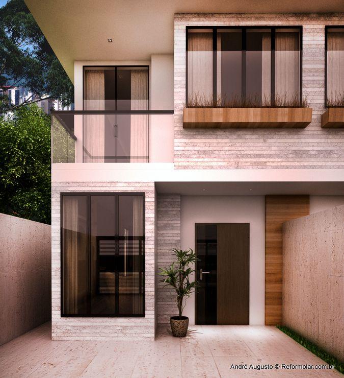 Projeto de contru o de casa geminada projetos de casas for Booking casas