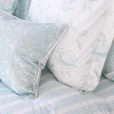 Jade Teacup Stripe Duvet Cover + Sham Set - Sarah Richardson Design