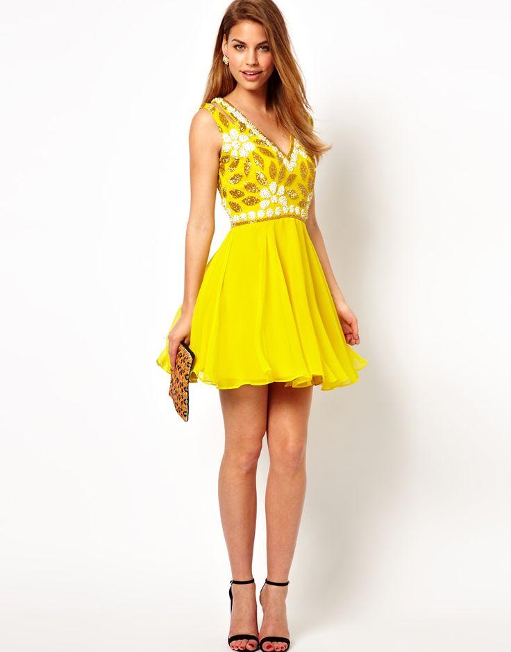 Virgos lounge yellow jane dress.