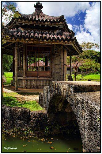 "Shikina-en Royal Garden ""Rokkakudo"" in Okinawa, Japan"