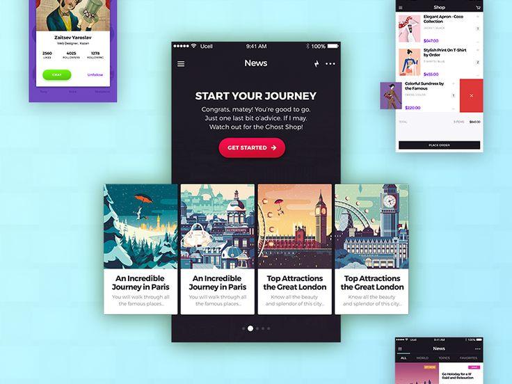 Ознакомьтесь с моим проектом в @Behance: «FREEBIE: Avital Mobile UI Kit +21 FREE…