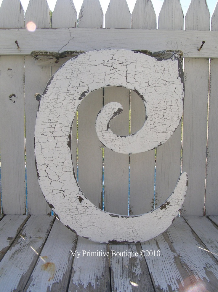 large wooden cut out letter c shabby chic signs 2 feet tall any letter any color the best shabby letters on