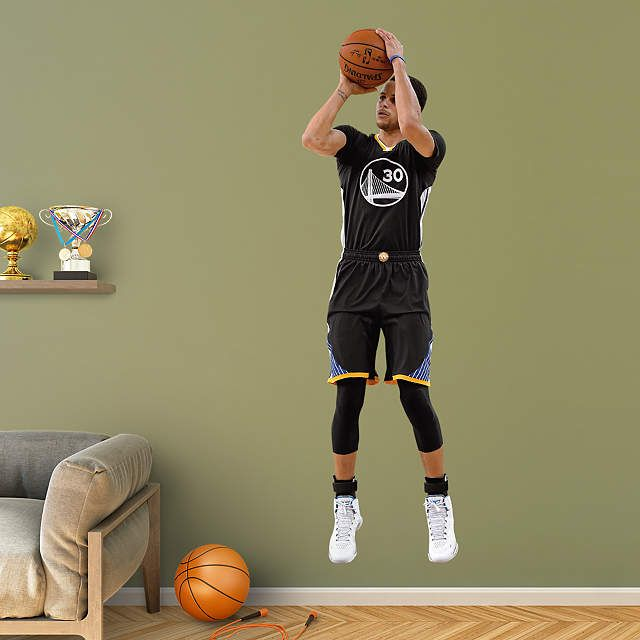 Golden State Warriors fan? Prove it! Put your passion on display with a giant Stephen Curry - Shot Fathead wall decal!