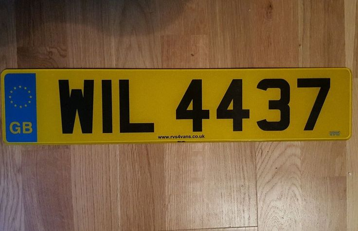 WIL4437 Private reg/number plate