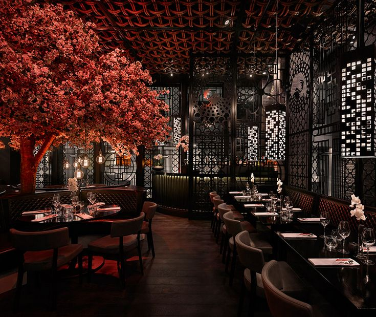 The stunning Tattu, offering a stylish dining experience with a modern twist on Chinese cuisine.