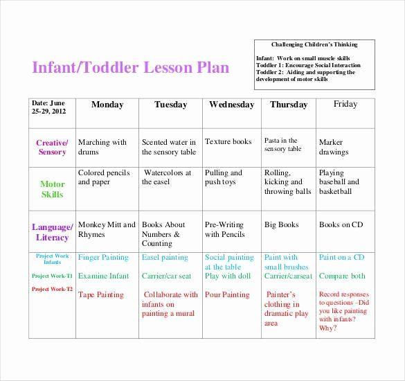 Blank Toddler Lesson Plan Template Elegant Infant Blank Lesson Plan Sheets Toddler Lesson Plans Template Daycare Lesson Plans Curriculum Lesson Plans