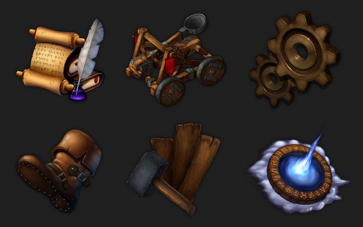 Fantasy Game Icons 2_HQ by ~Rav3nway on deviantART